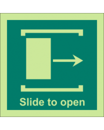 Slide To Open (Right Side) Sign