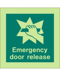 Emergency Door Release Sign