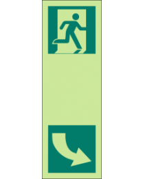 Exit (Left) Sign