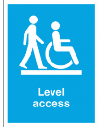 Level access Sign