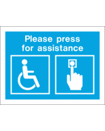 Please Press For Assistance Sign