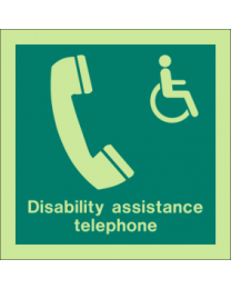 Disability assistance telephone Sign