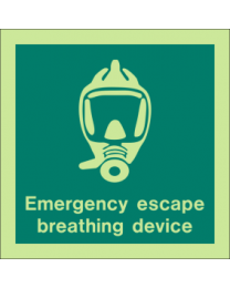 Emergency Escape Breathing Point Sign