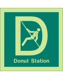 Donut Station Sign
