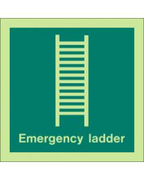Emergency Ladder sign