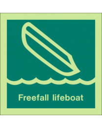 Freefall Lifeboat Sign