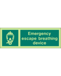 Emergency Escape Breathing Device Sign