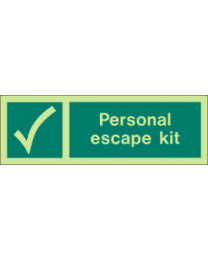 Personal Escape Kit Sign