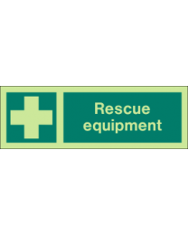 Rescue Equipment Sign