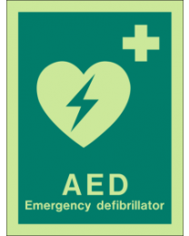 AED Emergency Defibrillator Sign