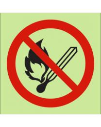 No Naked Flames IMO Sign