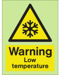Warning-Low temperature Sign