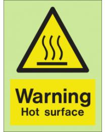 Warning-Hot Surface Sign