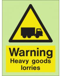 Warning-Heavy load lorries Sign