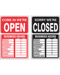 Open & Close (Double Sided) Sign