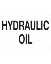 Hydraulic Oil Sign