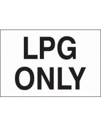 LPG Only Sign