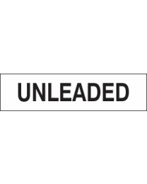 Unleaded Sign