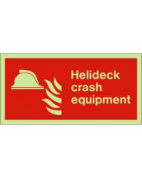 Helideck crash equipment Sign