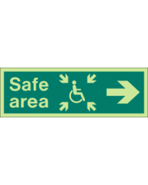 Safe area (L) sign