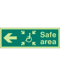 Safe area(R) Sign