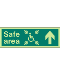 Safe area (Arrow) Sign