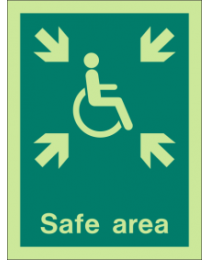 Safe area sign