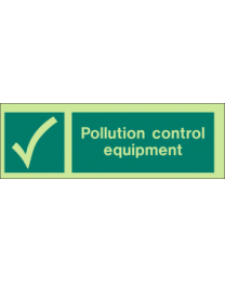 Pollution control equipment sign