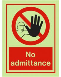 No Admittance IMO Sign