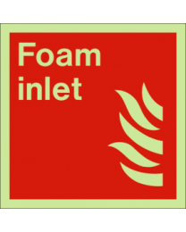 Foam inlet sign