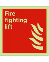 Fire fighting lift sign
