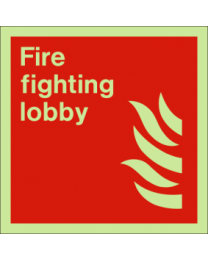 Fire fighting lobby sign