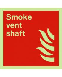 Smoke vent shaft sign