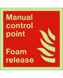 Manual control point -foam release sign