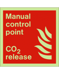 Manual control point-CO2 release sign