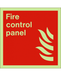 Fire control panel sign