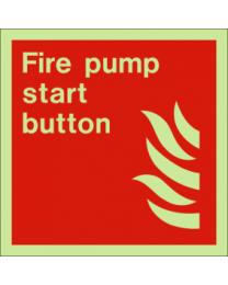 Fire pump start button sign