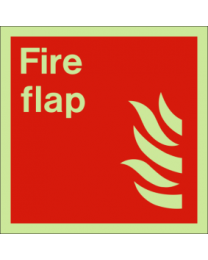 Fire flap sign