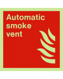 Automatic smoke vent sign