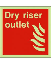 Dry riser outlet sign