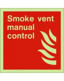 Smoke vent manual control sign