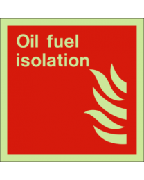 Oil fuel isolation sign