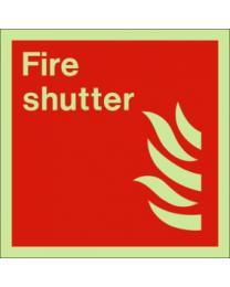 Fire shutter sign