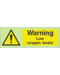 Warning low oxygen levels sign