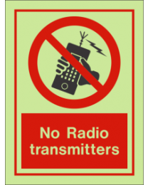 No radio transmitters sign