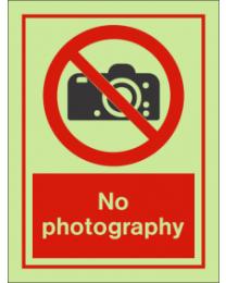 No Photography IMO Sign