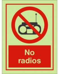 No Radios IMO Sign