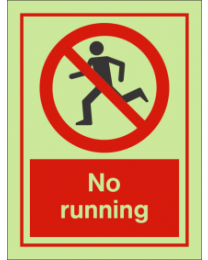No Running IMO Sign