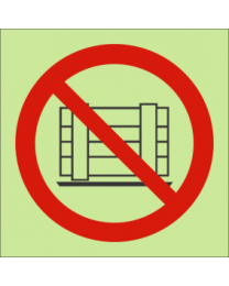 Do Not Obstruct Or Restrict Access IMO Sign