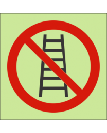 Do Not Use Ladder IMO Sign